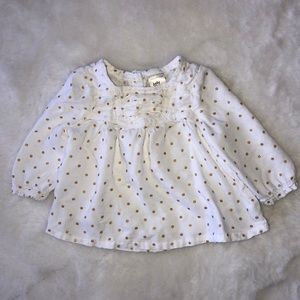 Oshkosh baby shirt good polka dot 0-3 months
